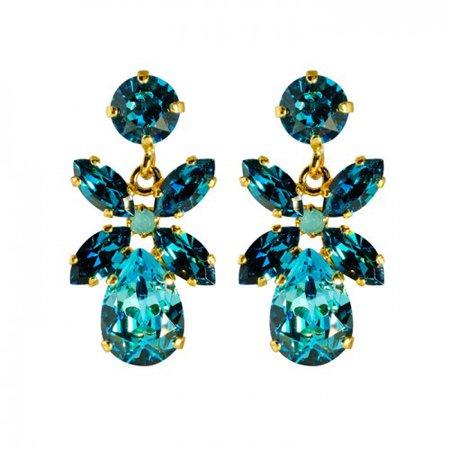 Caroline Svedbom Mini Dione - Light Turquoise+Indicolite - Örhängen - Caroline Svedbom - Varumärken