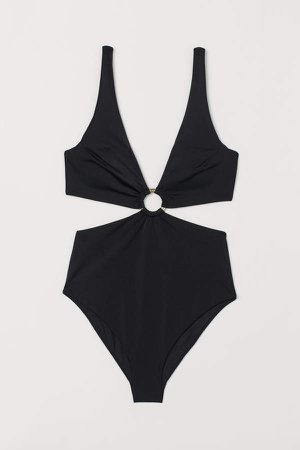Cut-out Swimsuit - Black