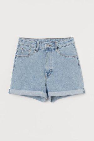 Mom Ultra High Denim Shorts - Blue