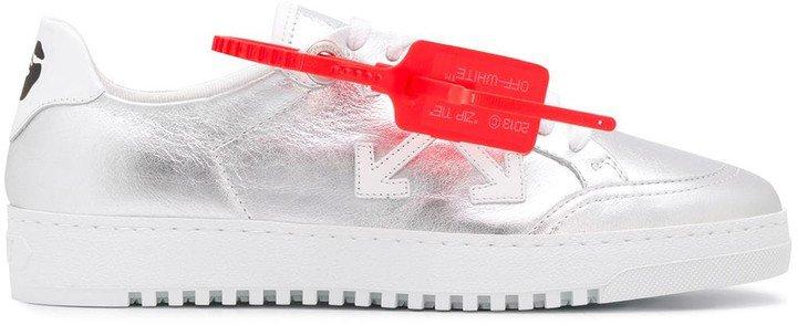 Metallic Low Vulcanized Sneakers