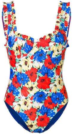 Rixo London floral one-piece
