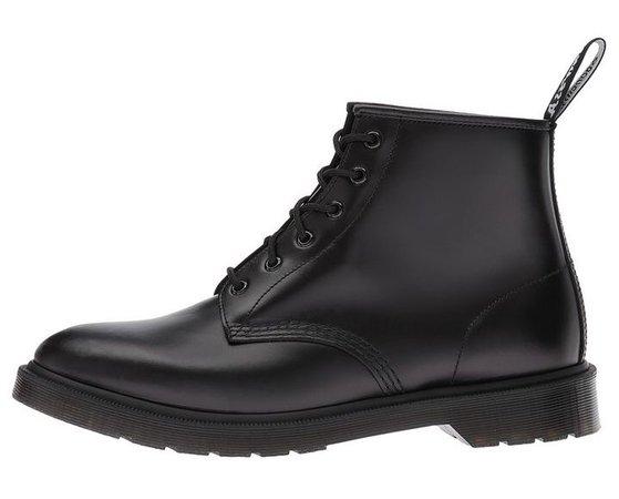 Dr. Martens black leather ankle boots