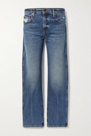 Blue Kerrie mid-rise straight-leg jeans | Khaite | NET-A-PORTER