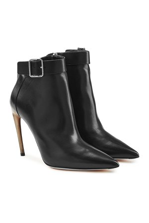 Leather Ankle Boots with Stiletto Heels Gr. EU 38