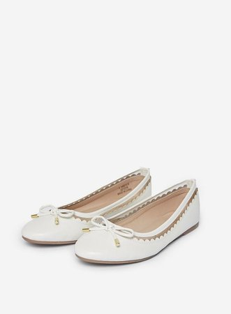 Wide Fit White 'Pippa' Pumps | Dorothy Perkins