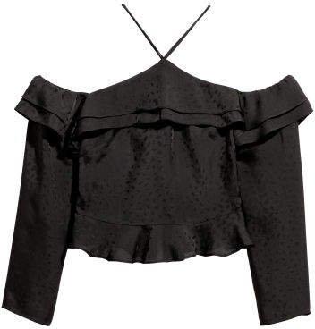 Off-the-shoulder Top - Black