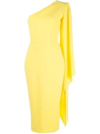 Yellow Alex Perry Finley one shoulder dress - Farfetch