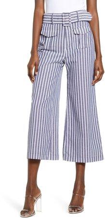 Crop Wide Leg Trousers