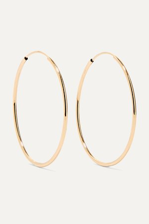 Gold Infinity 14-karat gold hoop earrings   Loren Stewart   NET-A-PORTER