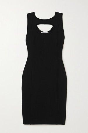 Cutout Stretch-crepe Dress - Black
