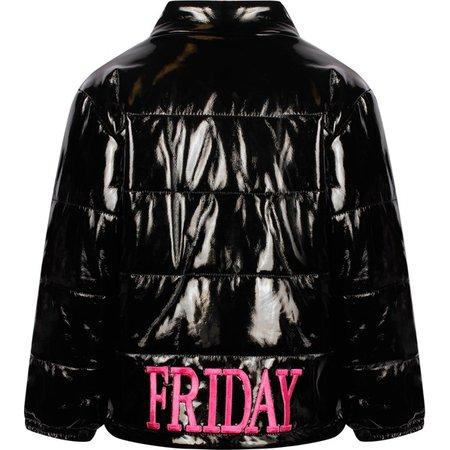 Alberta Ferretti Girls Friday Black Gloss Jacket - Bambini Fashion
