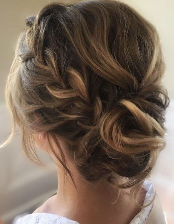 This crown braid with updo wedding hairstyle perfect for boho bride | HAIR STYLE | Pinterest