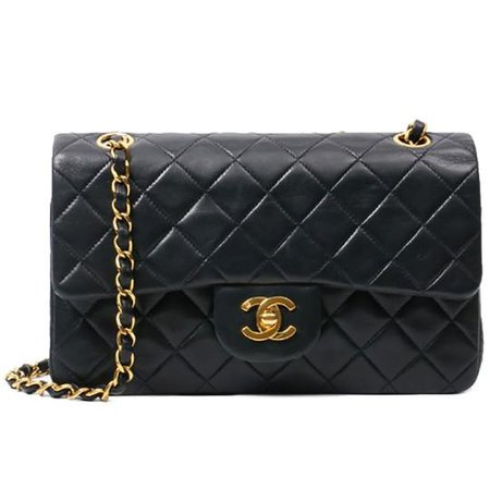 Chanel Classic Flap Vintage Small Quilted Black Lambskin Leather Shoulder Bag - Tradesy