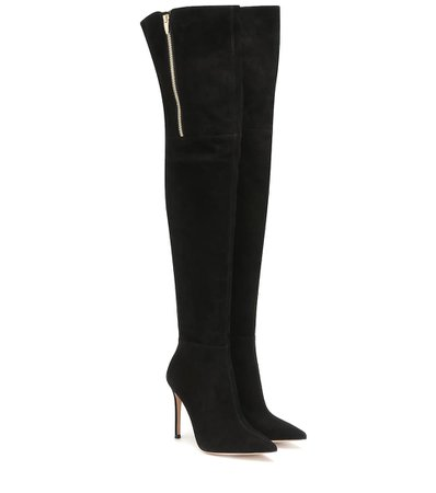 Gianvito Rossi - Suede over-the-knee boots | Mytheresa