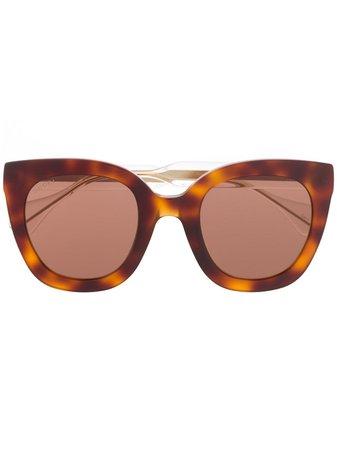 Gucci Eyewear Cat eye-solglasögon i oversize-modell - Farfetch