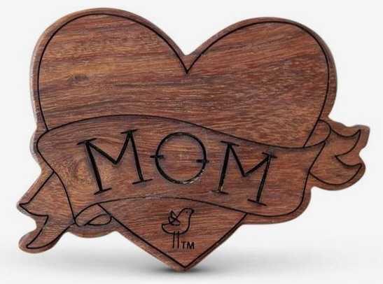 teether baby tattoo mom wood wooden