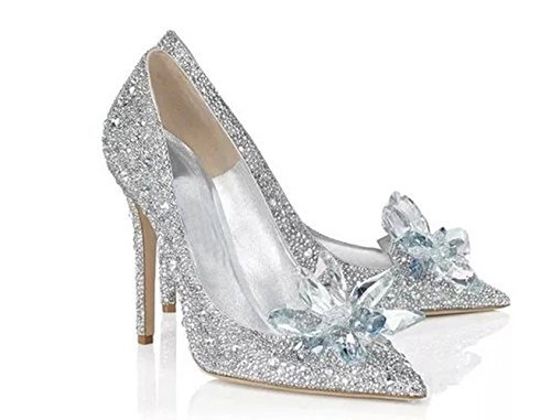 Amazon.com | Cinderella Movie 2015 The Glass Slipper Princess Crystal Shoes Adult Size | Shoes