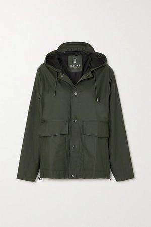 Hooded Shell Coat - Green