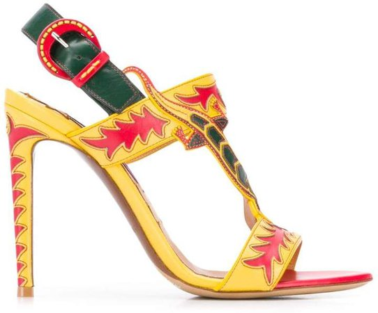 lizard strap stiletto sandals