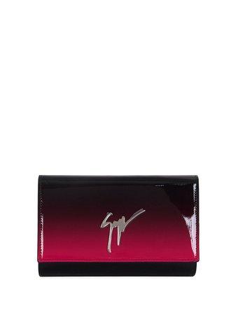 Giuseppe Zanotti Fluida logo clutch pink & black EB10005001 - Farfetch