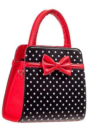 Banned Carla red Polka Dot 50's Hand Bag - Coquita Corsets