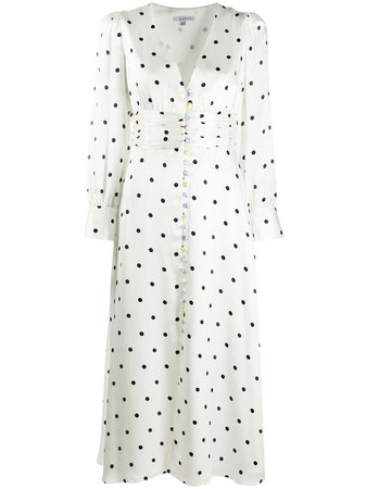 Olivia Rubin polka-dot Flared Dress - Farfetch