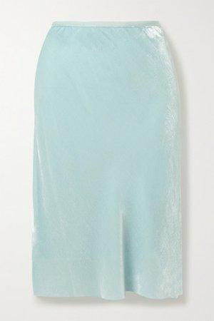 Helmut Lang | Velvet skirt | NET-A-PORTER.COM