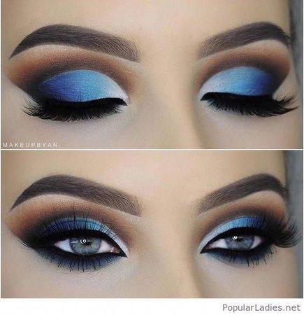 Blue eye makeup for blue eyes #besteyemakeup en 2019| Maquillage yeux bleus, Maquillage yeux et Maquillage pour les yeux bleus