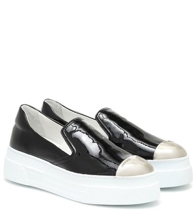 Flatform Leather Sneakers - Miu Miu | Mytheresa