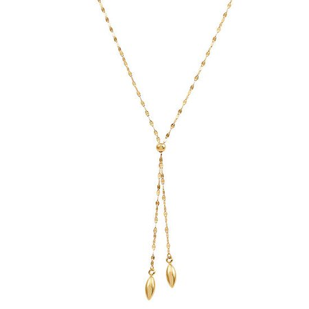 Womens 14K Gold Y Necklace - JCPenney