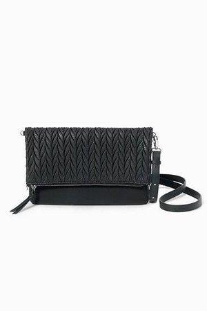 Black Braided Waverly Petite Crossbody Clutch Bag   Stella and Dot   Stella & Dot