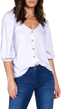 Modern Button Front Blouse