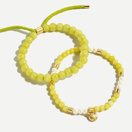 J.Crew: Sea Breeze Bracelet Set For Women