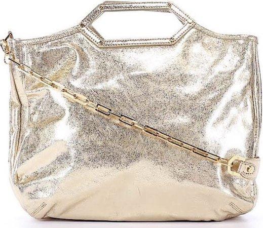 gold Tory Burch laptop bag