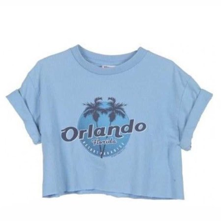 "Blue ""Orlando"" T-Shirt w/ Rolled Up Sleeves"