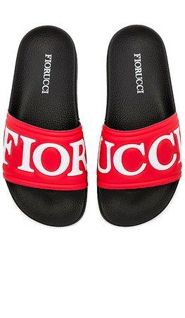 FIORUCCI Logo Slides in Black & Red | REVOLVE