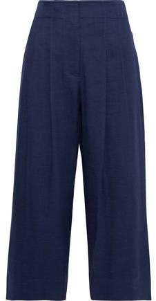 Pleated Linen-blend Culottes