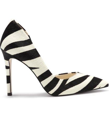 Jessica Simpson Prizma6 Zebra Stripe Half d'Orsay Pump (Women) | Nordstrom