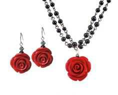red jewelry sets - Google Search