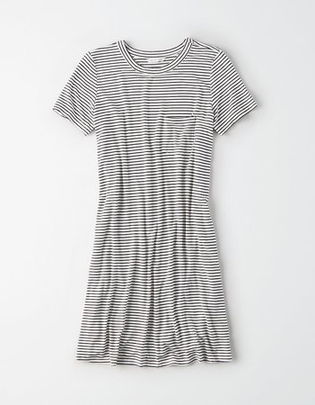 AE Easy T-Shirt Dress, Multi | American Eagle Outfitters