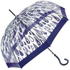 (1) Pinterest - Navy Raindrop Windproof PVC Dome Umbrella by Joy Heart - Brolliesgalore | Umbrellas