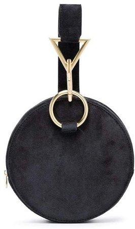 Black Azar suede bracelet bag