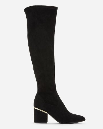 Soft Over The Knee Heeled Boots