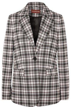 ALEXACHUNG | Checked woven blazer | NET-A-PORTER.COM