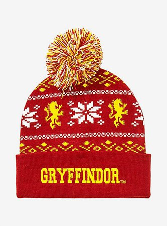 Harry Potter Gryffindor Pom Beanie