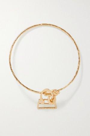 Gold Le Chiquita hammered gold-tone bracelet | Jacquemus | NET-A-PORTER