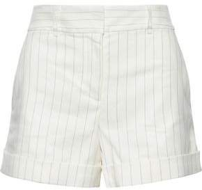 Carito Striped Linen-blend Twill Shorts