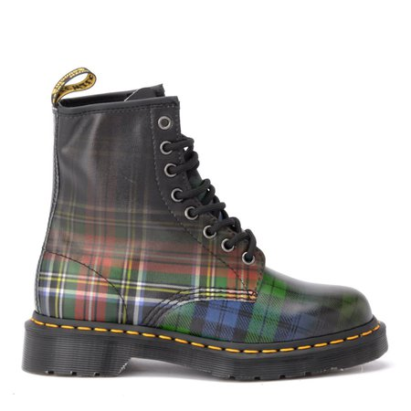 Dr. Martens Model 1460 Amphibious In Tartan-colored Shiny Leather