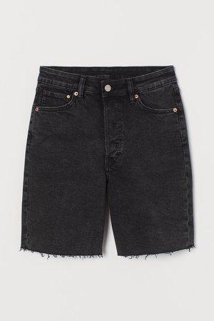 Denim Bermuda Shorts - Black