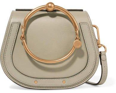 Nile Bracelet Small Textured-leather Shoulder Bag - Gray